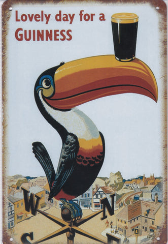 Image of Guinness Toucan Vintage Metal Sign