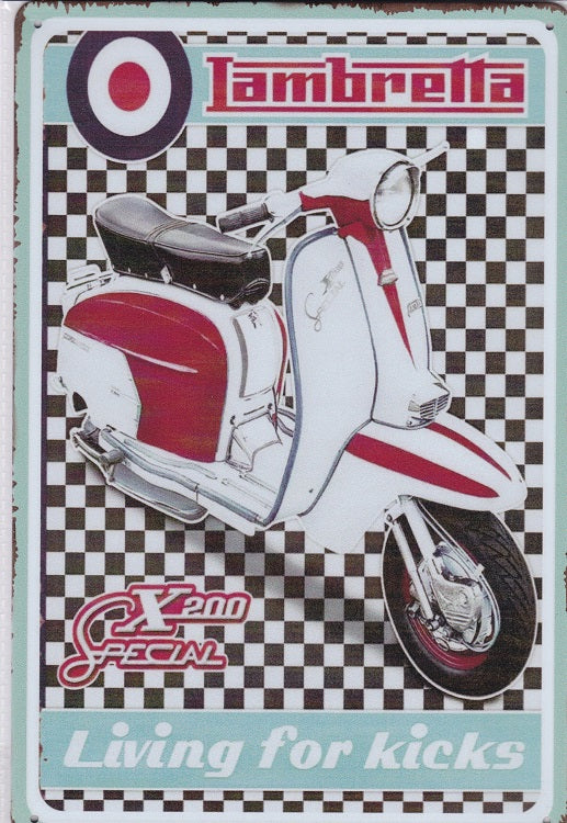 Lambretta X200 Special Scooter Vintage Metal Sign