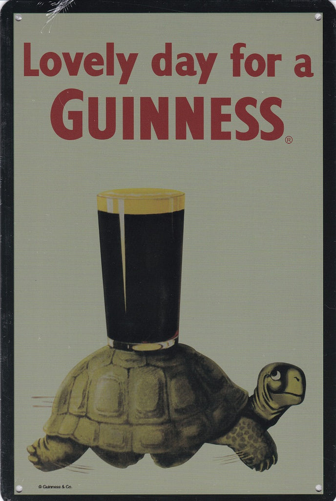 Lovely day for a Guinness Vintage Metal Sign