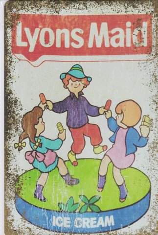 Lyons Maid Ice Cream Vintage Metal Sign