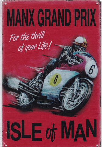 Manx Grand Prix Vintage Metal Sign