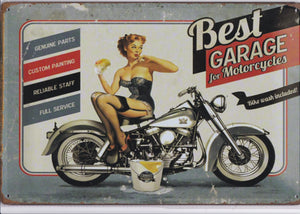 Best Garage For Motorcycles Vintage Metal Sign