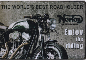 Norton Enjoy Riding Vintage Metal Sign