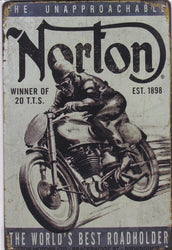 Norton Motorcycles Vintage Metal Sign