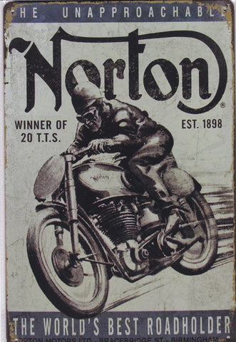 Image of Norton Motorcycles Vintage Metal Sign