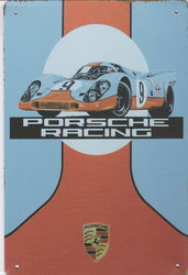 Porsche Racing Vintage Metal Sign