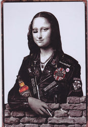 Punk Mona Lisa Vintage Metal Sign