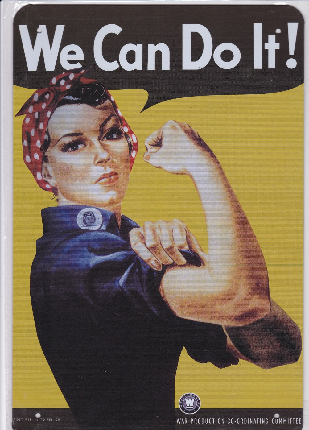 Rosie the Riveter Vintage Metal Sign