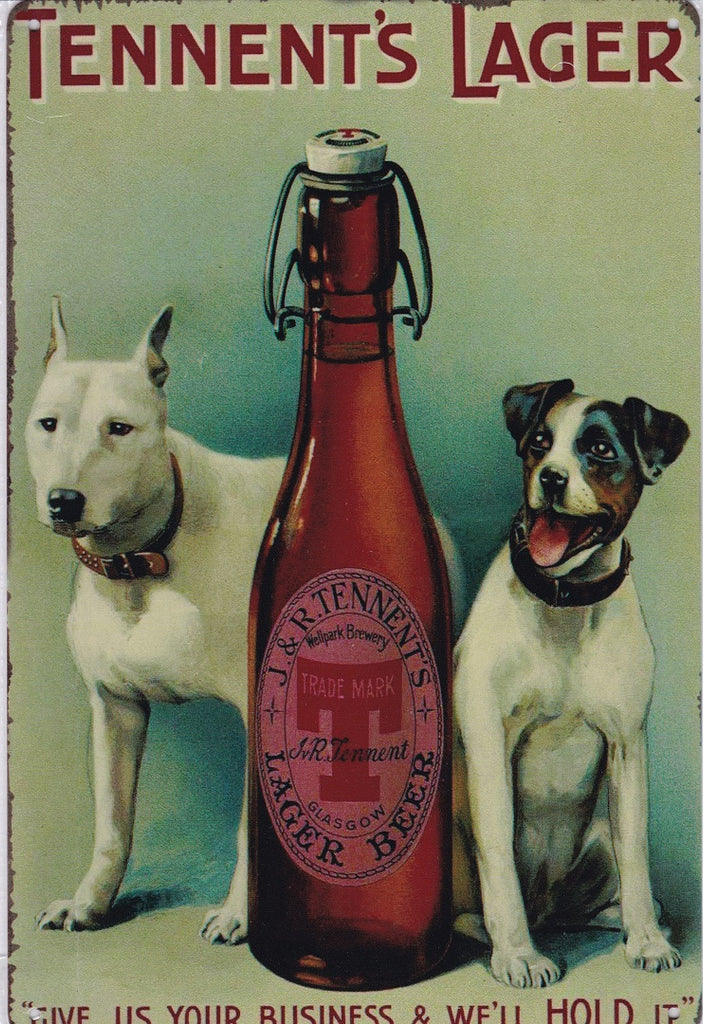 Tennent's Lager Vintage Metal Sign