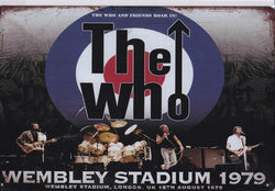 The Who at Wembley 1979 Vintage Metal Sign