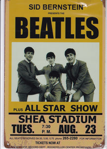 The Beatles at Shea Stadium Vintage Metal Sign