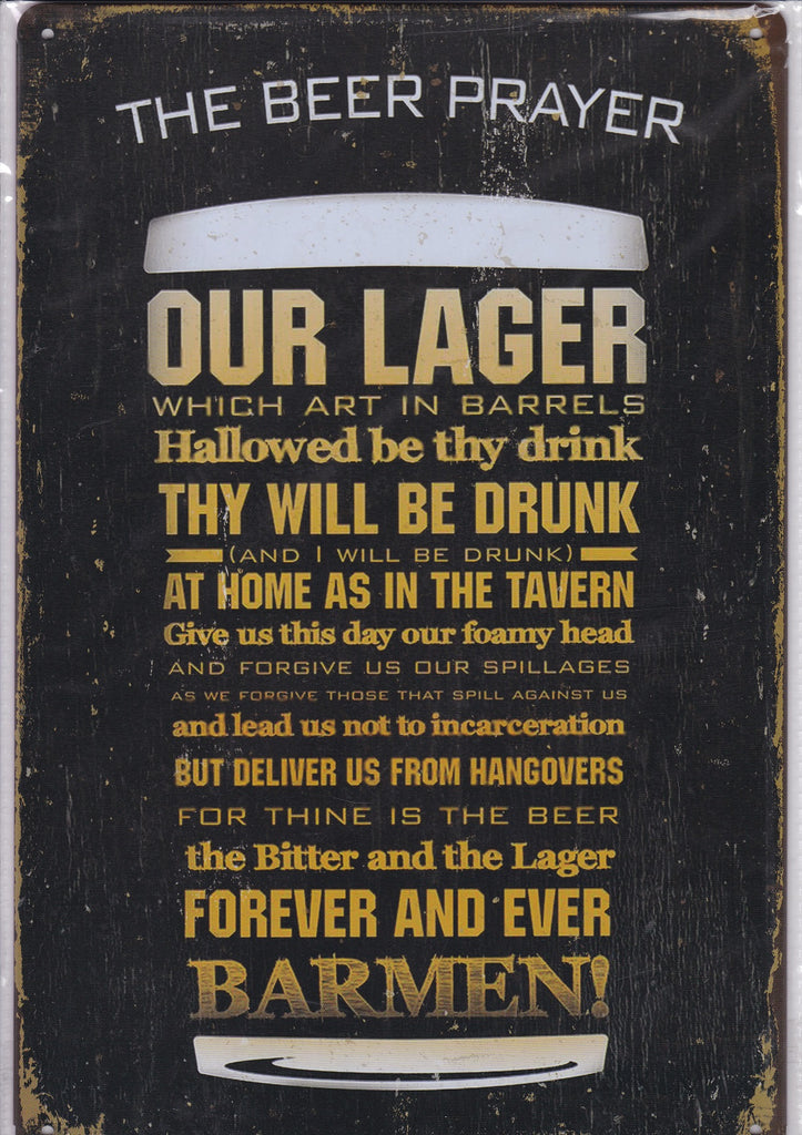 The Beer Prayer Vintage Metal Sign
