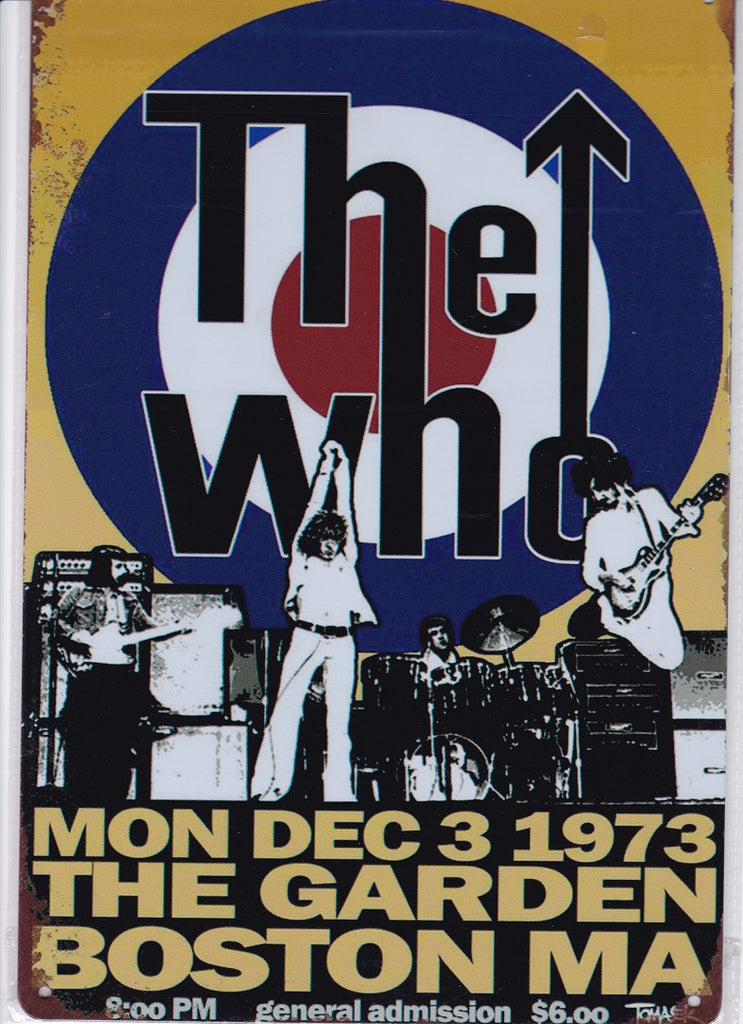 The Who in Boston Vintage Metal Sign