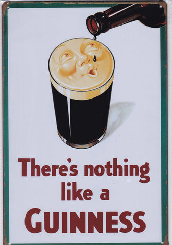 There's Nothing Like a Guinness Vintage Metal Sign