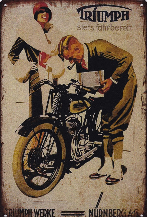 Triumph Motorcycles Advertising Poster