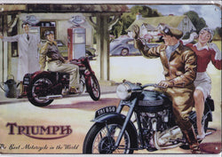 Triumph Motorcycle Vintage Metal Sign