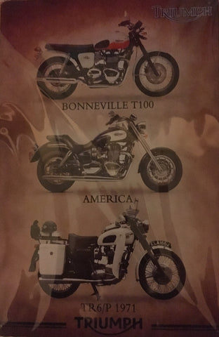 Triumph Motorcycles Vintage Metal Sign