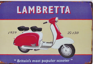 Lambretta LI 150 Scooter Vintage Metal Sign