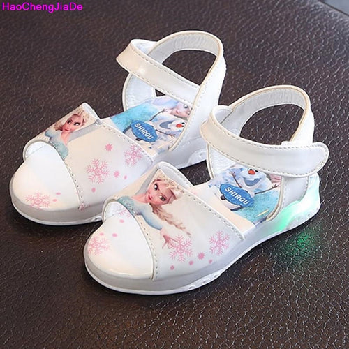 8edd53df4 New Summer Girls Sandals Fashion Led light Shoes For Baby Cute Cartoon Non  Slip Soft Bottom