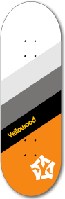 Stripe orange - yellowood fingerboard fingerskate