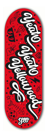 Yeah Yeah Yellowood red - yellowood fingerboard fingerskate