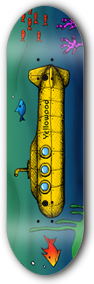 SUBMARINE - yellowood fingerboard fingerskate
