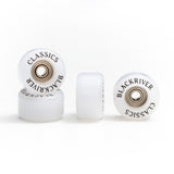 "Blackriver Wheels ""Classics"" white - yellowood fingerboard fingerskate"