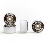 "Blackriver Wheels ""Cruizers"" white - yellowood fingerboard fingerskate"