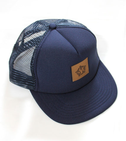 Trucker Navy blue - yellowood fingerboard fingerskate
