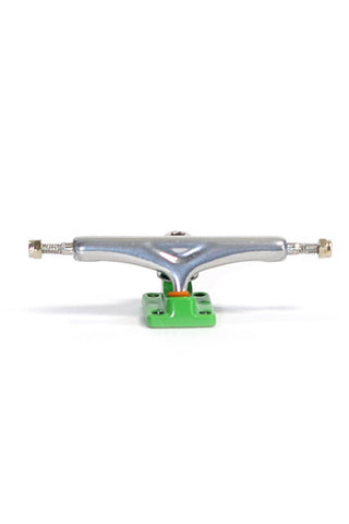Chrome/green X5 - yellowood fingerboard fingerskate