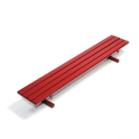 Red metal bench - yellowood fingerboard fingerskate