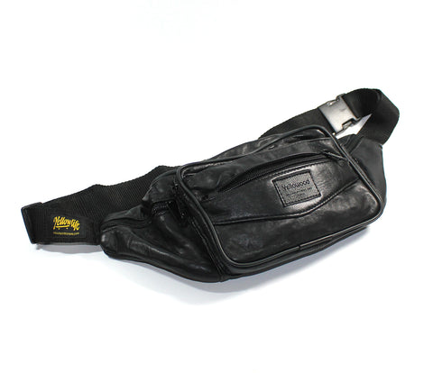 Leather Bum Bag - yellowood fingerboard fingerskate