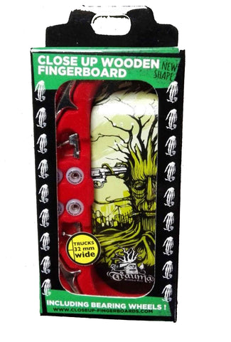 Close up Trauma suicidal - yellowood fingerboard fingerskate