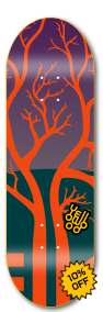 Tree orange - yellowood fingerboard fingerskate