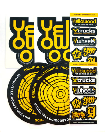 Sticker 6pack - yellowood fingerboard fingerskate