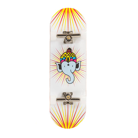 Bollie white Fingerboard Set complete - yellowood fingerboard fingerskate