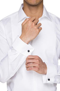 Abelard Marcella Stud Front Peak Collar Dinner Shirt