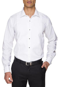 Abelard Marcella Stud Front Peak Collar Dinner Shirt With Cuffs