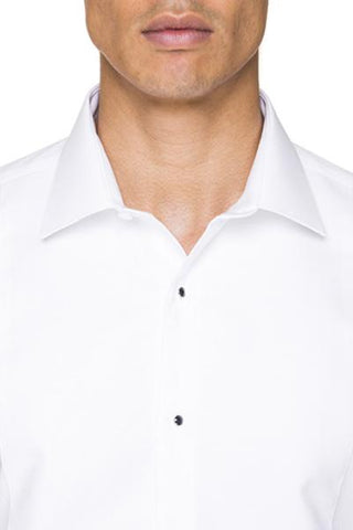 Image of Abelard Marcella Stud Front Peak Collar Dinner Shirt With Cuffs