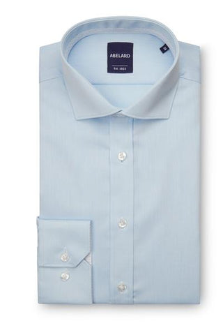 Abelard Super Non-Iron Cotton Twill Cutaway Collar Blue Single Cuff Shirt