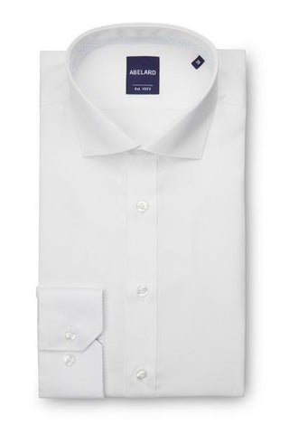 Abelard Super Non-Iron Cotton Twill Cutaway Collar White Single Cuff Shirt