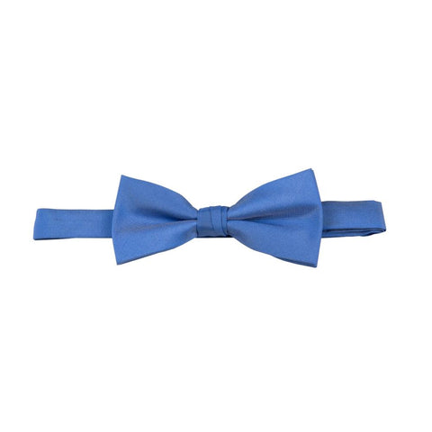 Carlo Visconti Azure Solid Plain Bow Tie