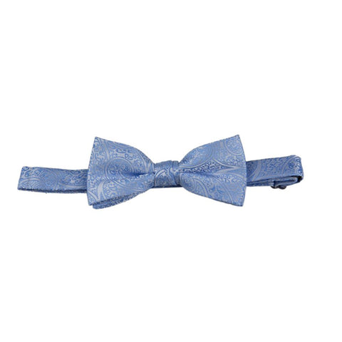 Carlo Visconti Blue Paisley Bow Tie