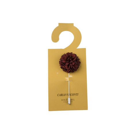Carlo Visconti Burgundy Lapel Pin