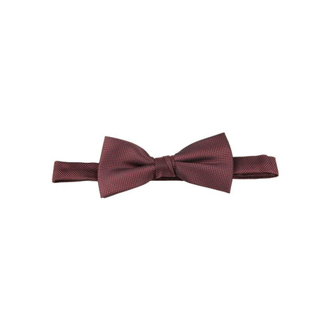 Carlo Visconti Burgundy Self Pattern Bow Tie