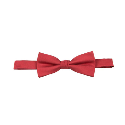 Carlo Visconti Crimson Solid Plain Bow Tie