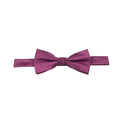 Carlo Visconti Fuschia Solid Plain Bow Tie