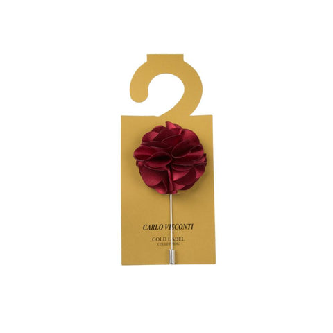 Carlo Visconti Large Burgundy Lapel Pin