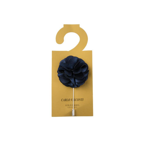 Carlo Visconti Large Navy Lapel Pin