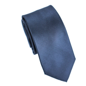 Carlo Visconti Microfiber Black Slim Self Patterned Tie